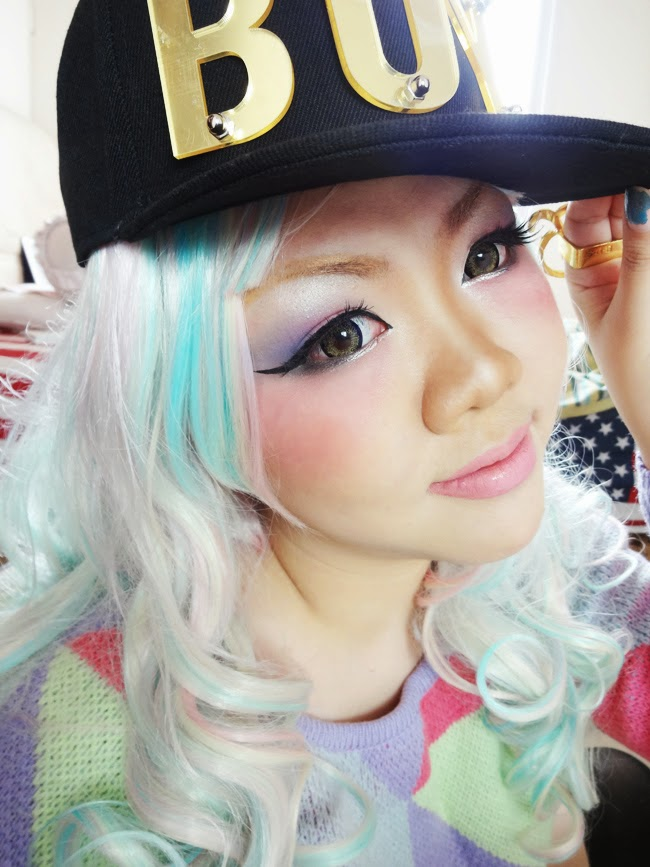 gyaru makeup look