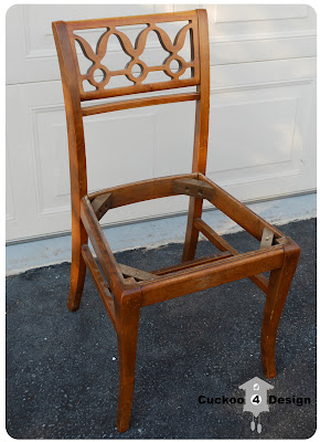 vintage craigslist chair before picture
