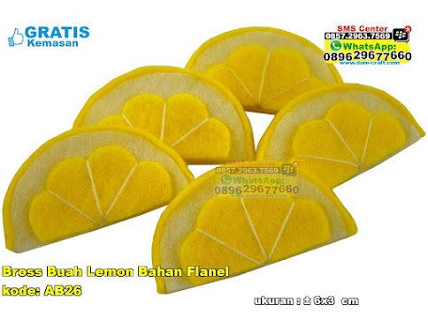 Bross Buah Lemon Bahan Flanel unik
