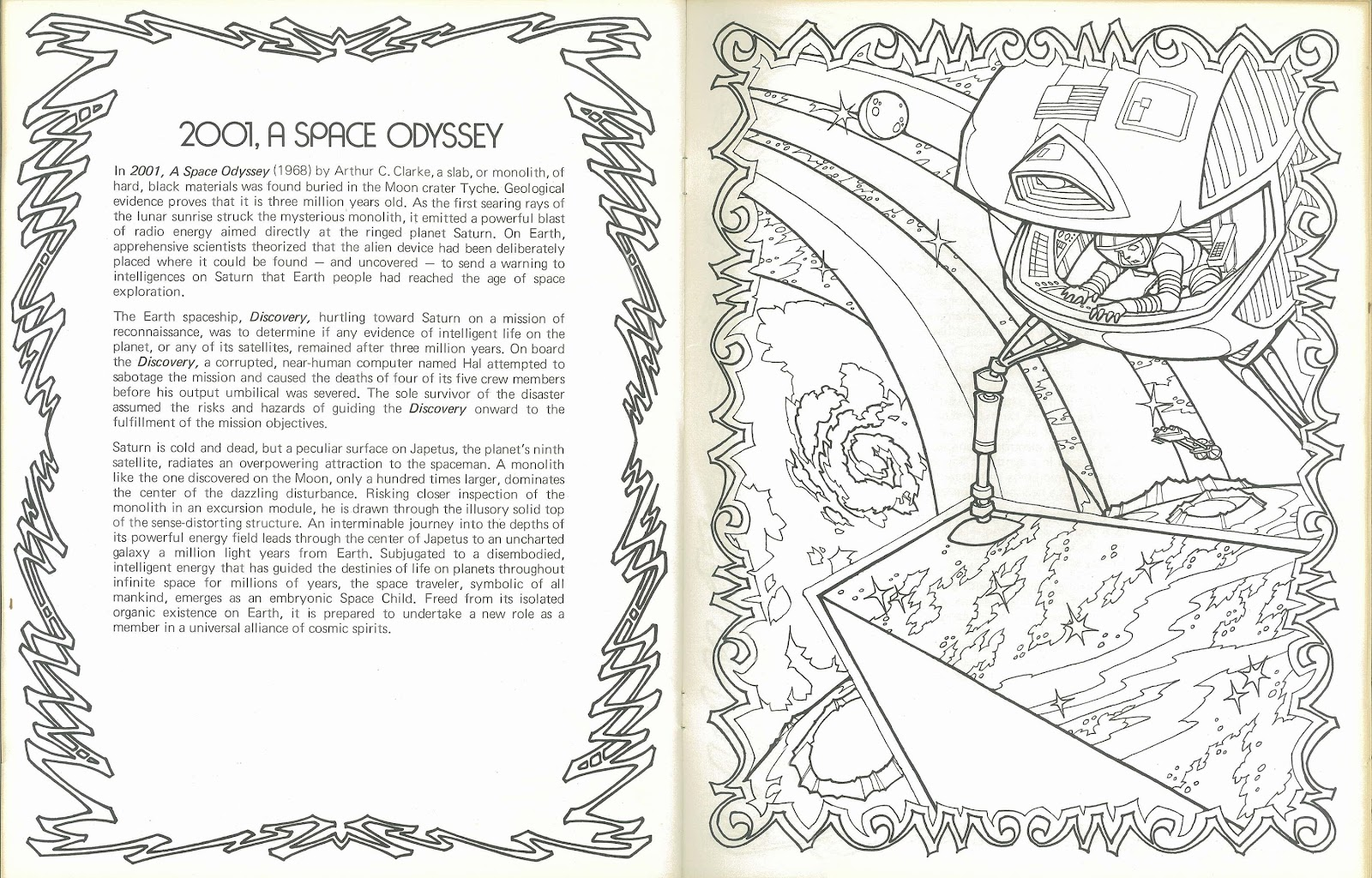 inside jeff overturf  39 s head  quot science fiction anthology quot  coloring book 2 of 2 Space Theme Coloring Books  Sci Fi Coloring Book