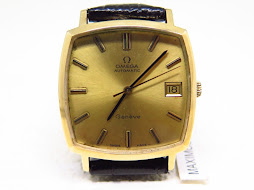 OMEGA GENEVE GOLD DIAL SEMI SQUARE CASE - AUTOMATIC 1012