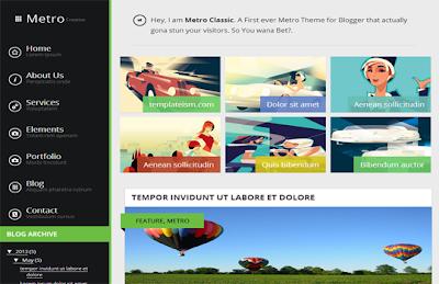 Metro Classic theme, blogger themes