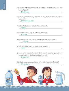 Respuestas Apoyo Primaria Desafíos matemáticos 5to grado Bloque I lección 12 Litros y mililitros