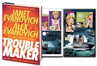 cover and insert of Troublemaker #1 by Janet Evanovich