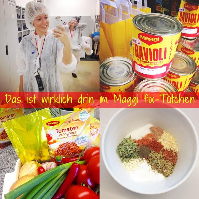 Zu Gast bei Maggi in Singen - Ein Blick ins Maggi fix-Tütchen ...