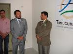 Governador Camilo Capiberibe na Fundação Tumucumaque