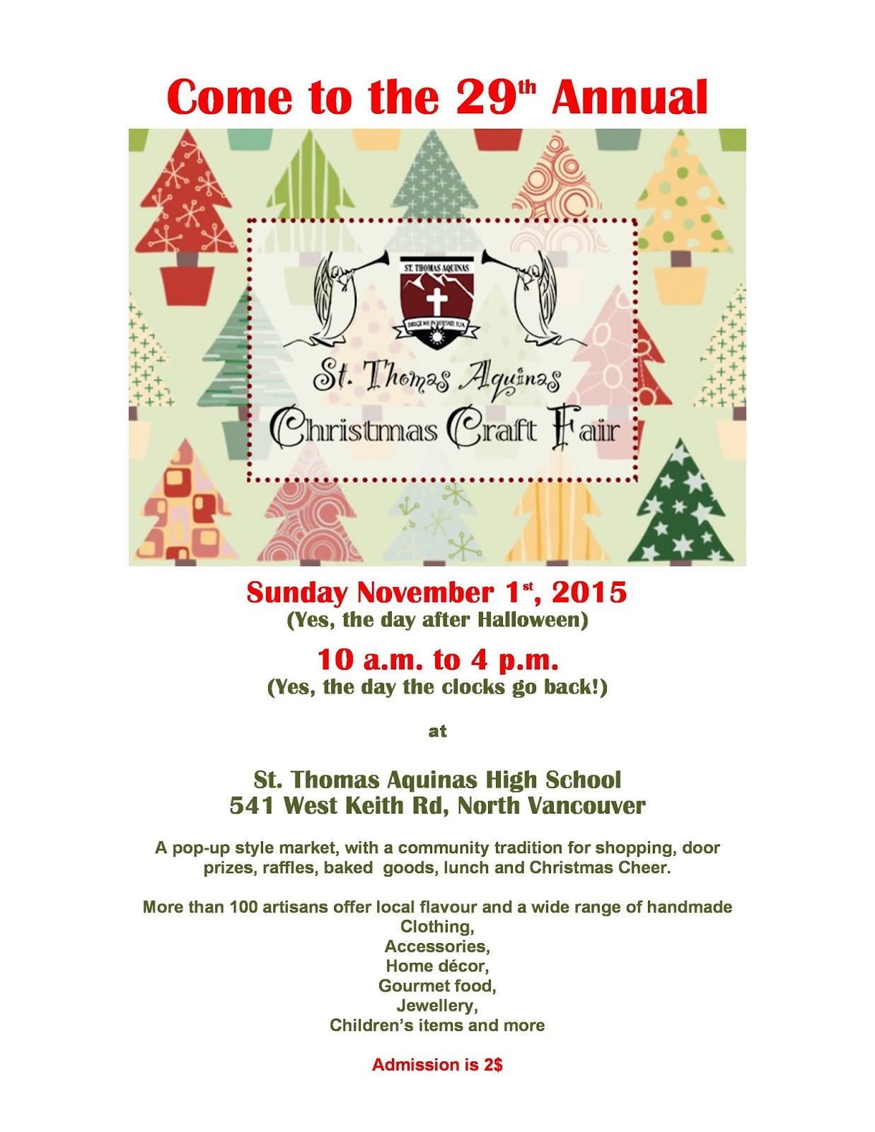 Archbishop Carney Christmas Craft Fair