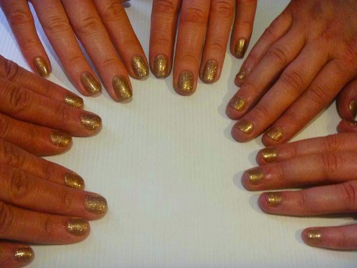 Acrylic sculpts LED polish manicure-solid gold manicure-Acrylic sculpts + LED polish and bling