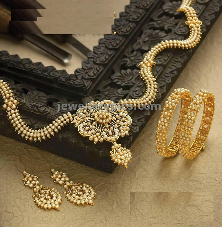 lagu bandhu jewellers pearls necklace set