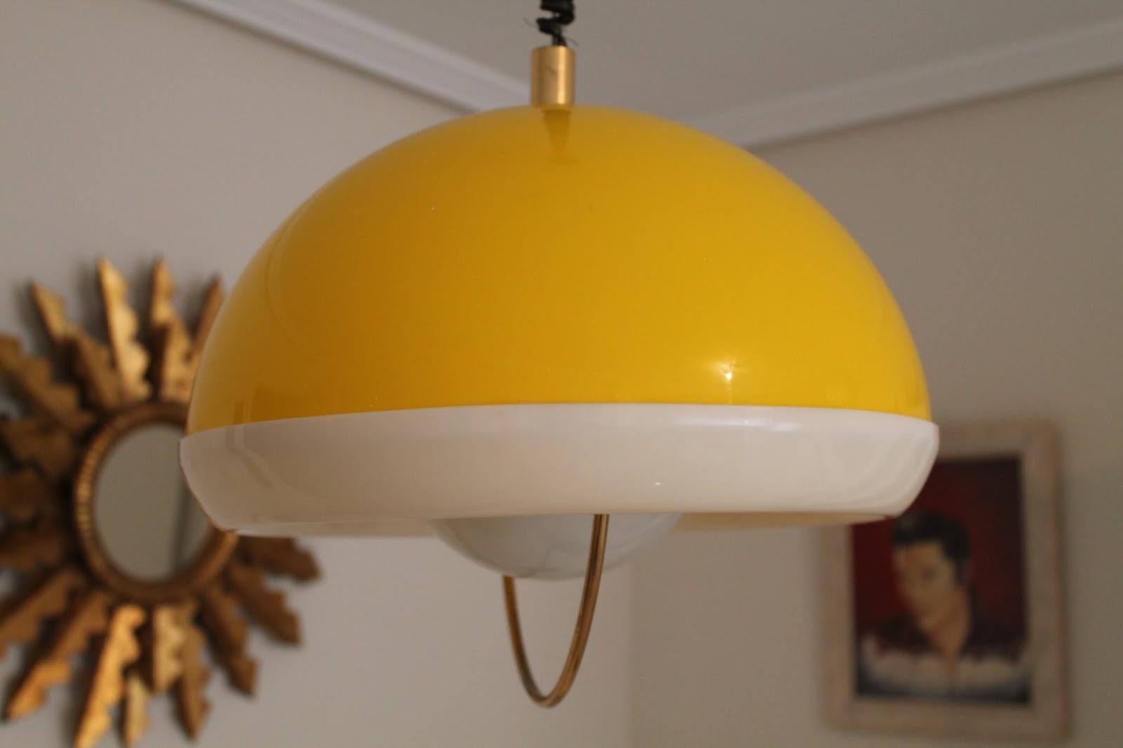 Vintager a l mpara extensible de techo de la era pop - Lamparas anos 20 ...