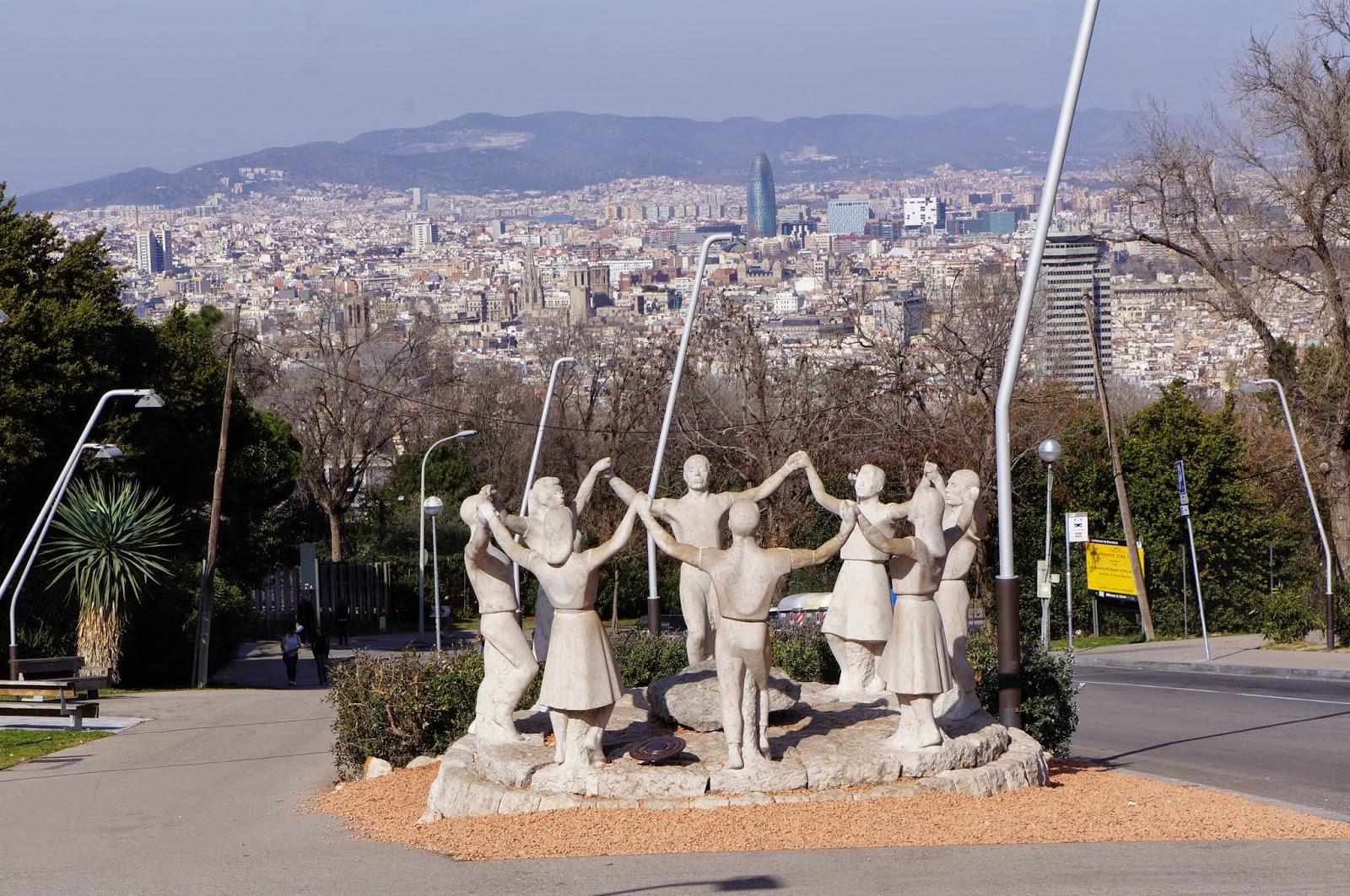 Fun and joyful statues in Barcelona Spain.