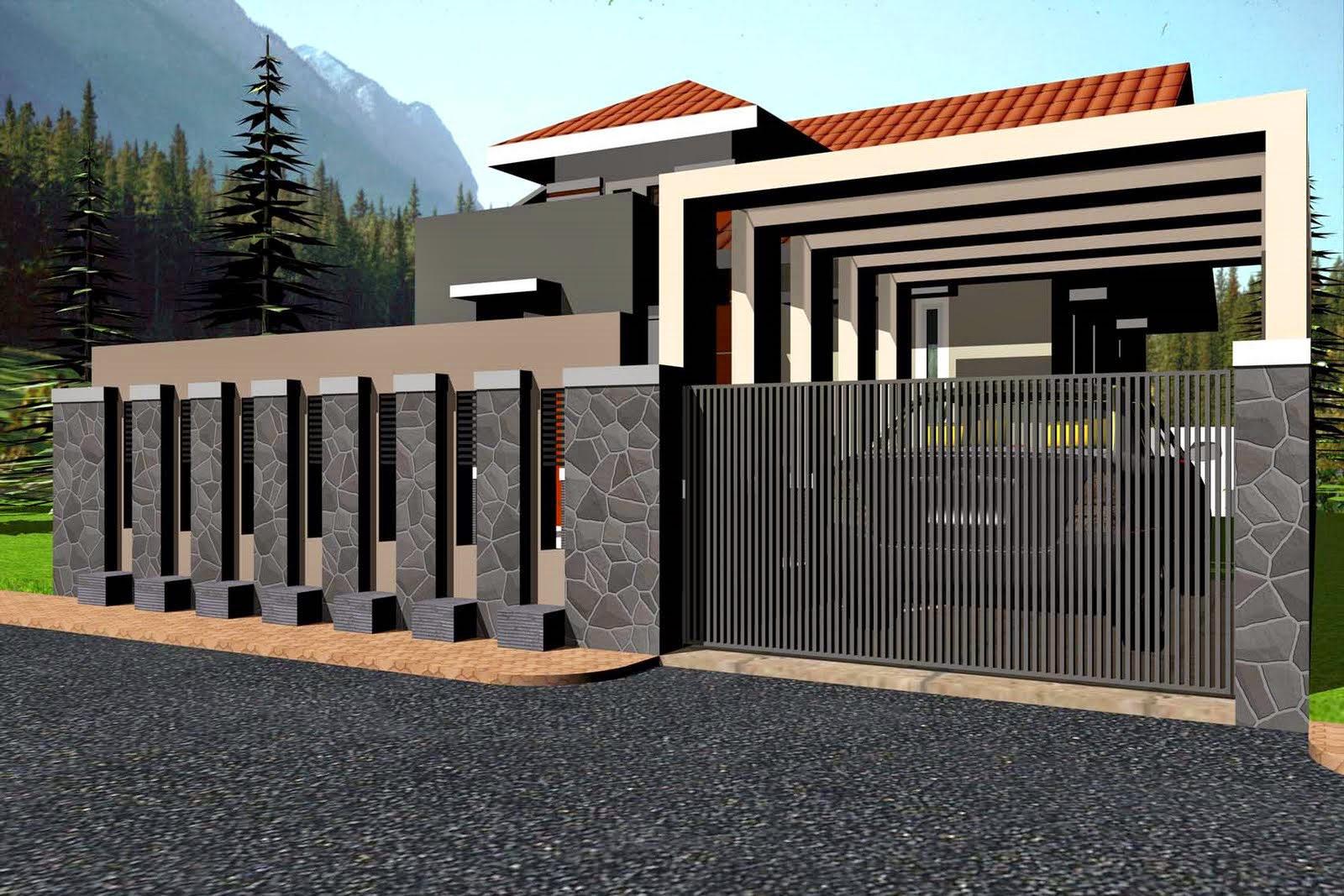 Bentuk Pagar Rumah Minimalis
