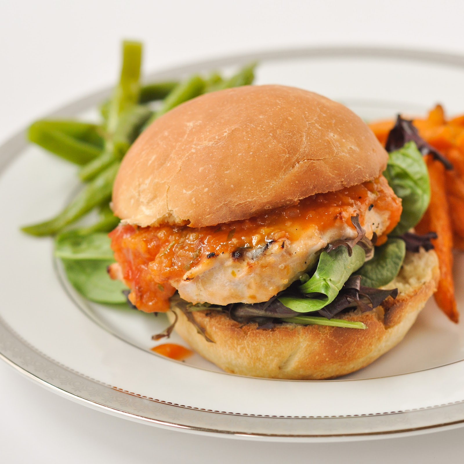 Good Thymes and Good Food: Peach BBQ Chicken Burgers