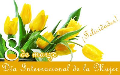 Dia de la Mujer Tulipanes 8 de Marzo