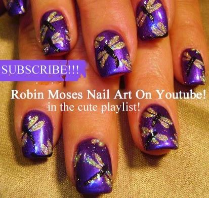 """robin moses nail art """"dragonfly nails"""" """"dragonfly design"""