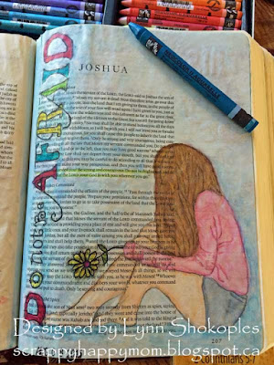 Josua 1:9 Bible Journal Page by Lynn Shokoples