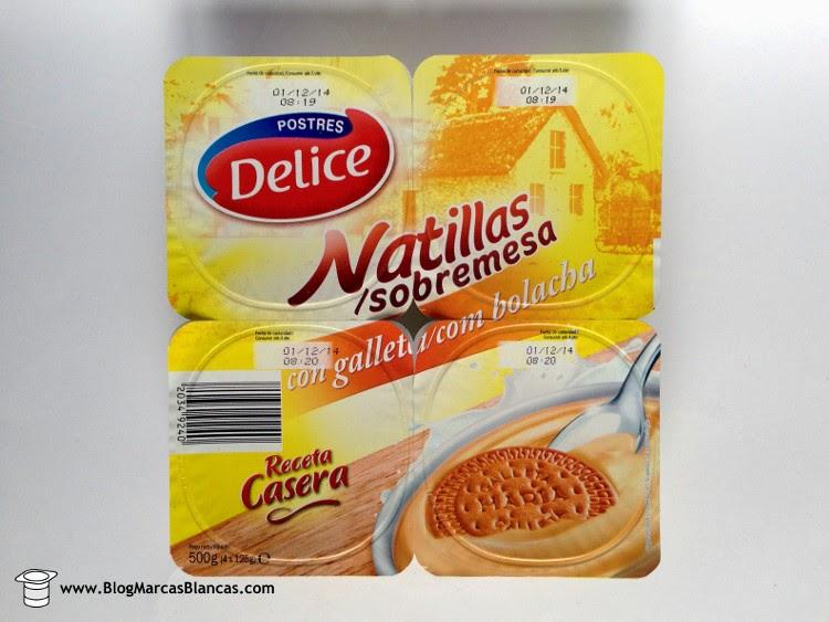 Natillas de vainilla con galleta (receta casera) Postres Delice de Lidl.