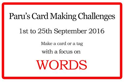 Paru's Card Making Challenge