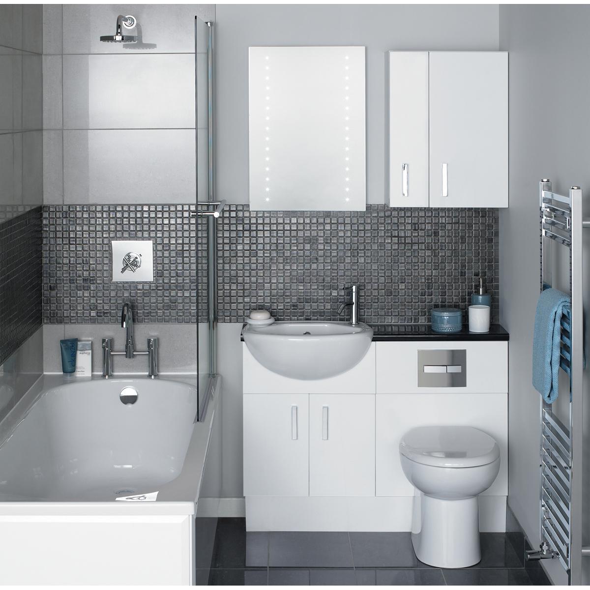 decoracao moderna Remodelação do banheiro pequeno