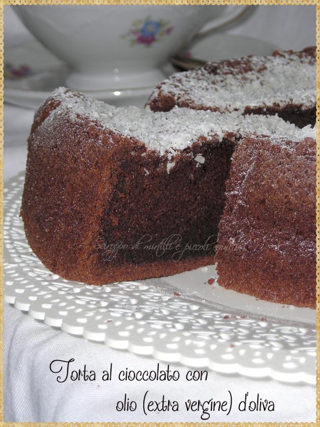 Torta al cioccolato con olio extra vergine d'oliva