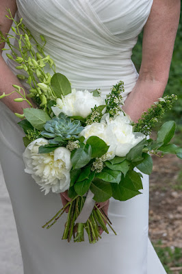 Modern Asymmetrical Bridal Bouquet 2015