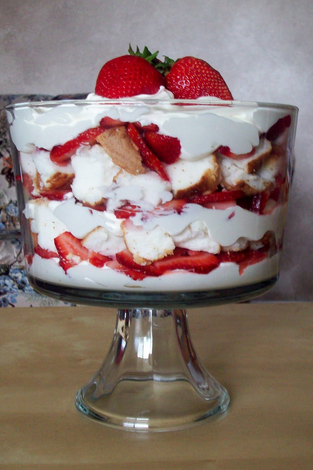 White Chocolate Strawberry Trifle - Summer Scraps