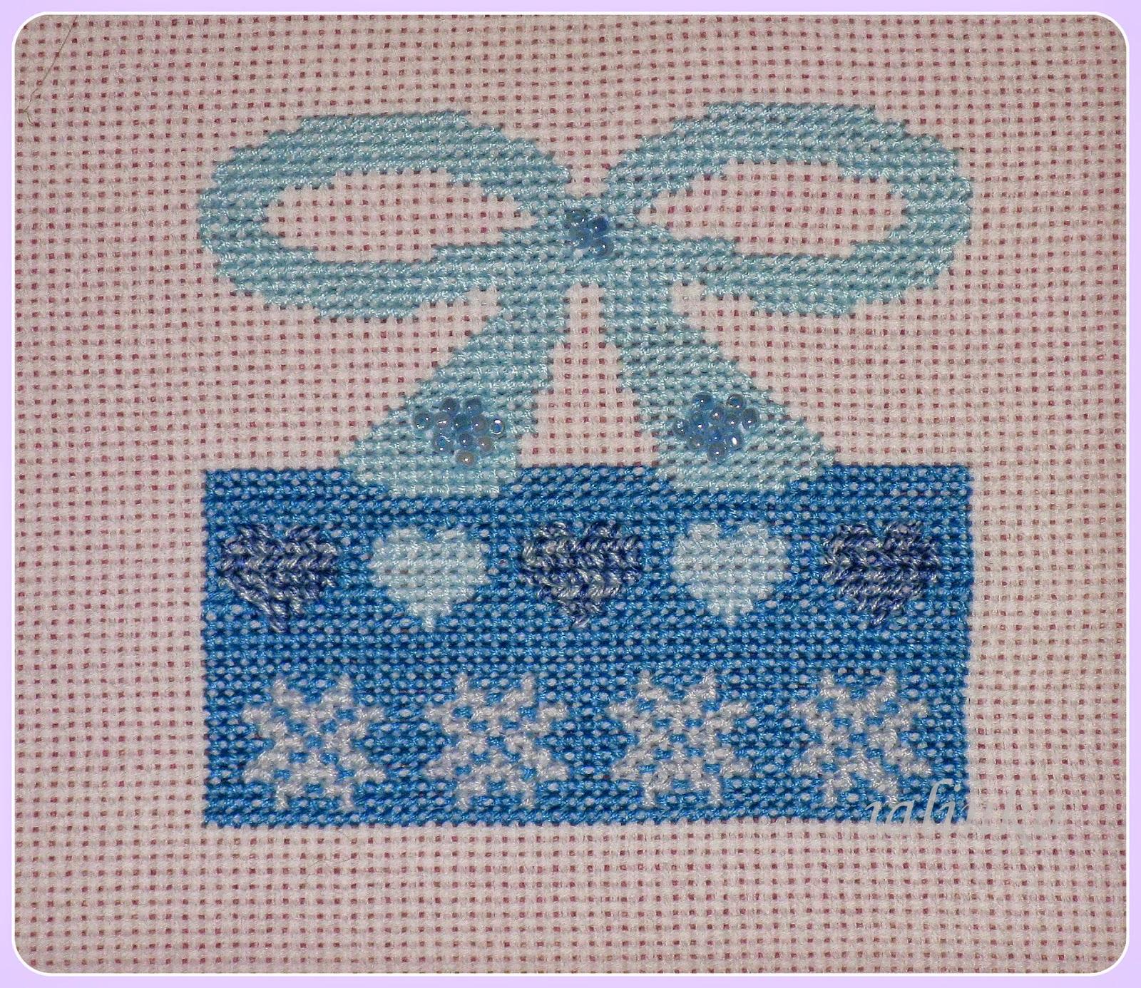 вышивка  подарок Cross  Stitcher  за  декабрь  2012 года