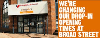 We're changing our drop-in opening times at Broad Street