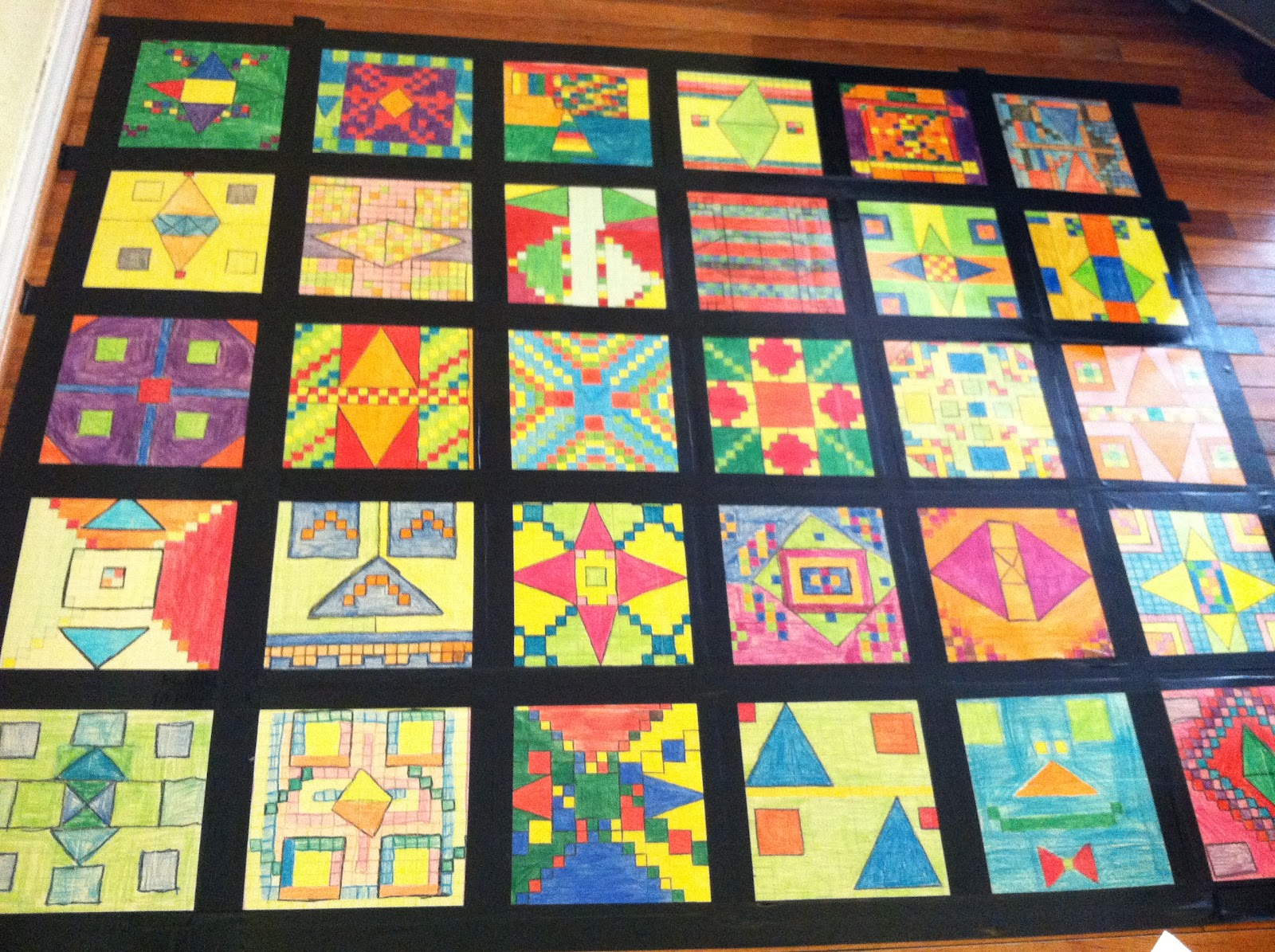 Math + Social Studies = Awesomeness - Teaching in Room 6 : math quilt - Adamdwight.com
