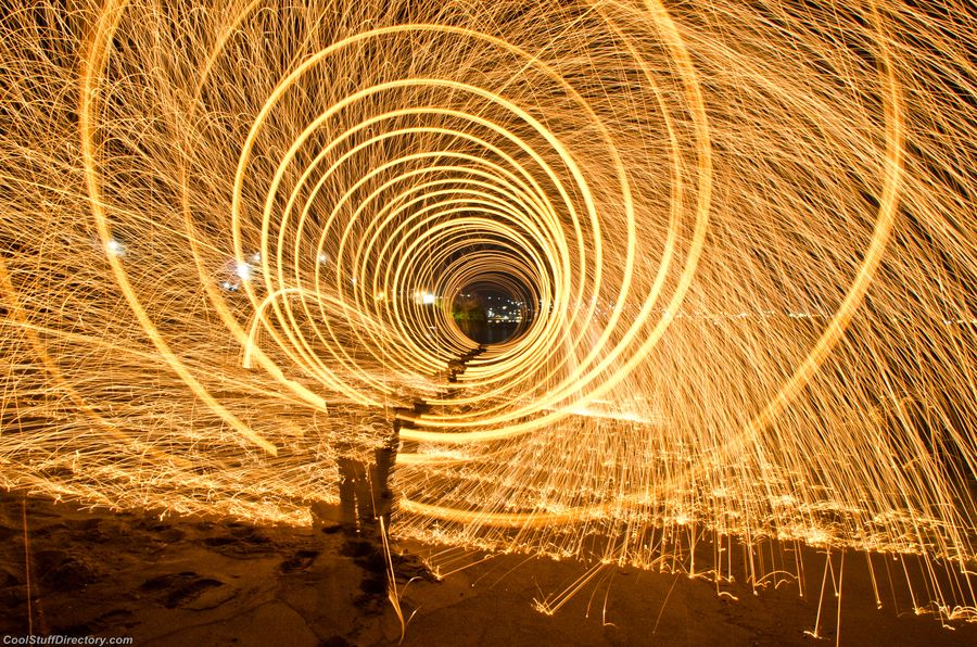 25. Walking inside the Fire Whirlpool by Anish Adhikari