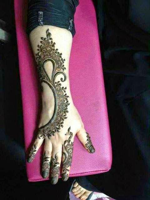 Modern Bridal Mehndi Designs : Beautiful latest simple arabic pakistani indian bridal