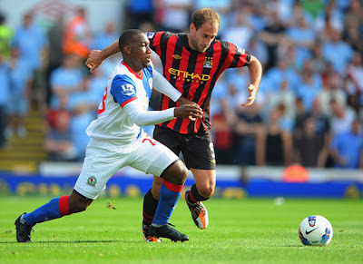 Pablo Zabaleta Blackburn Rovers vs Manchester City Barclays Premier League