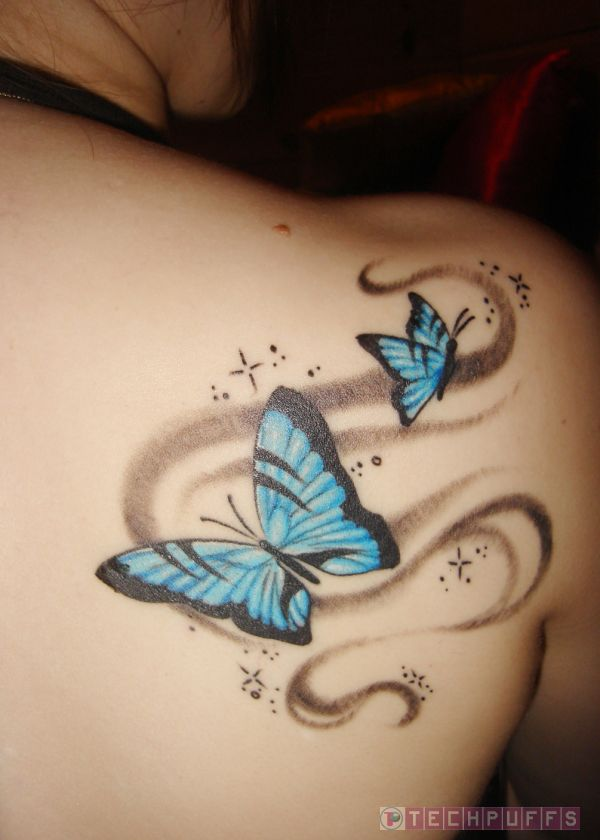 tattoos back tattoos upper back butterfly tattoo designs. Black Bedroom Furniture Sets. Home Design Ideas