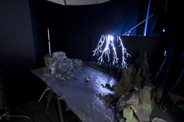 Matthew Albanese fotografia set designer maquetes modelos miniaturas hiper realistas Relâmpagos - maquete e fundo