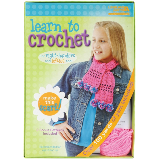 scarf learn to crochet kit visit the knit crochet kits Crochet Scarf Kids