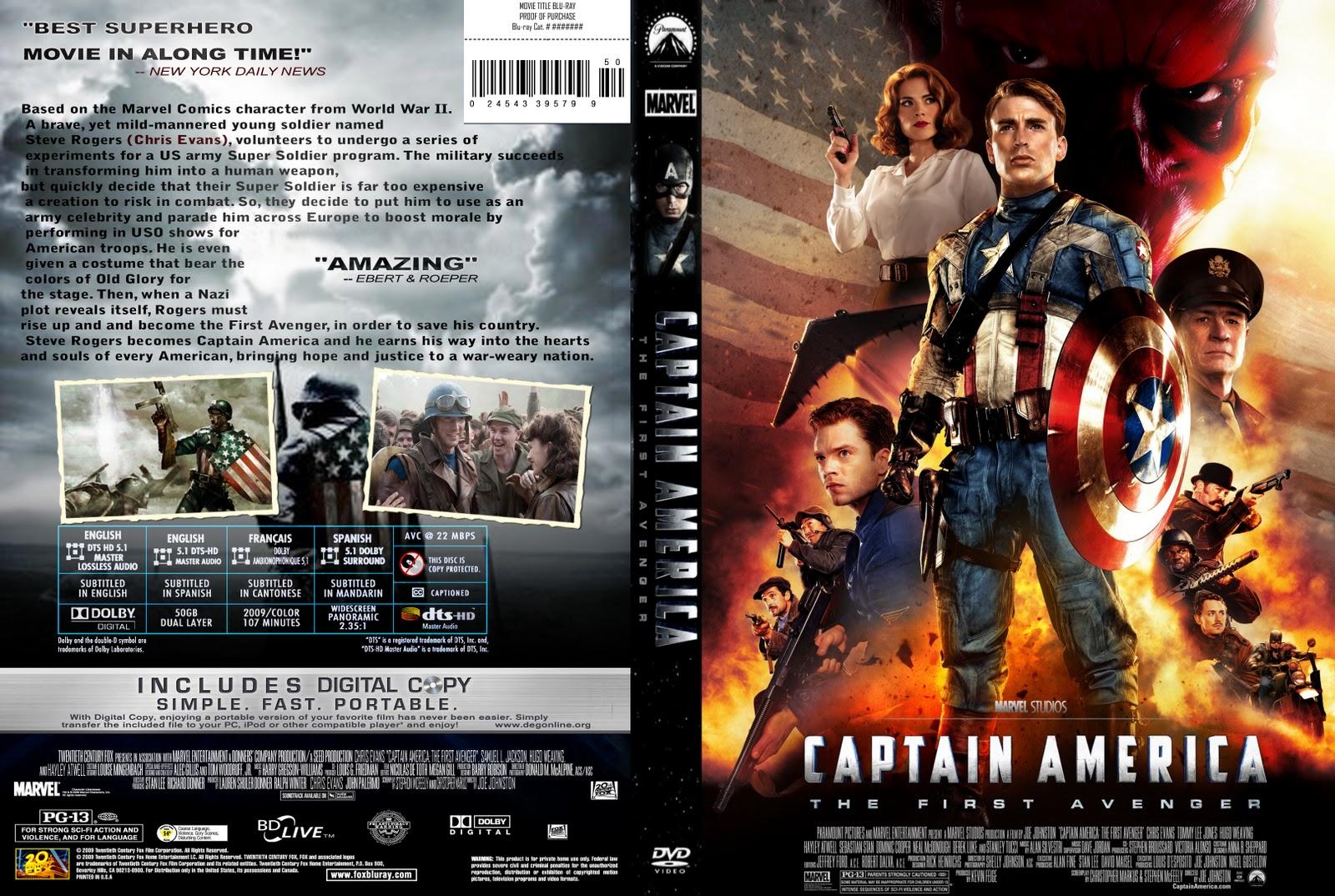 Captain america the first avenger 2011 - Captain America The First Avenger 2011 Dvd Cover Hd