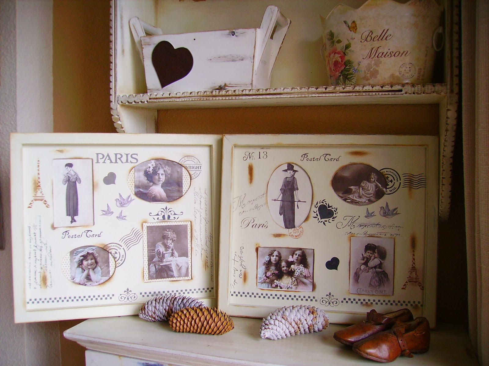 Retazos de madera mas cuadros vintage - Cuadros vintage madera ...