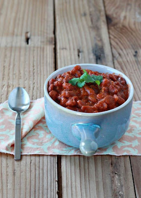 Slow Cooker Vegetarian Curry Coconut Baked Beans