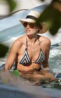 English: Molly Sims Black Bikini 2014 New Year Eve Miami