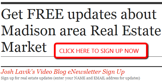 Get FREE updates about the Madison area real estate market