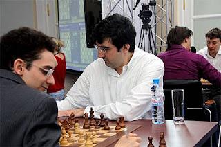 Echecs à Moscou : Ronde 8, Fabiano Caruana (2770) 1-0 Vladimir Kramnik (2801) - Photo © ChessBase