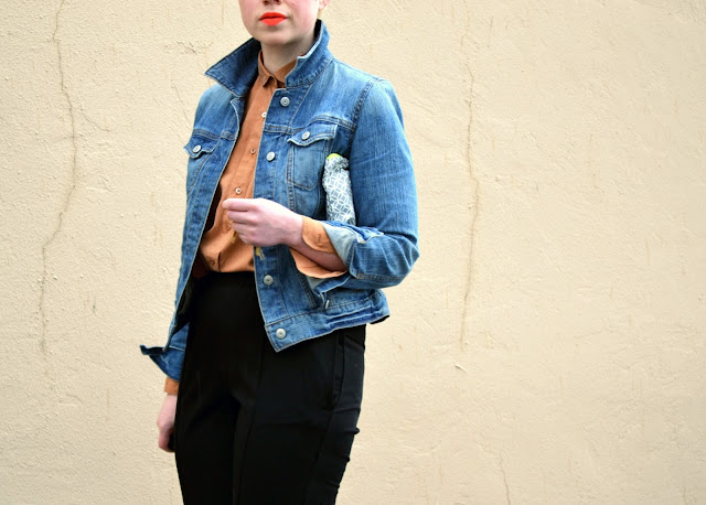 seattle, street style, spring 2013, neon lips, fleur d'elise, denim jacket