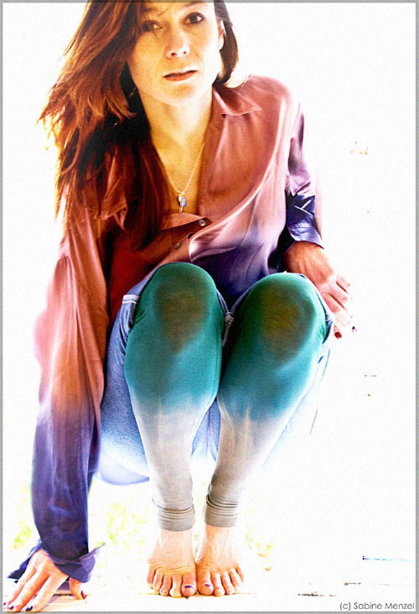 Psynopsis Tie-Dyed Silk Blouse and Leggings