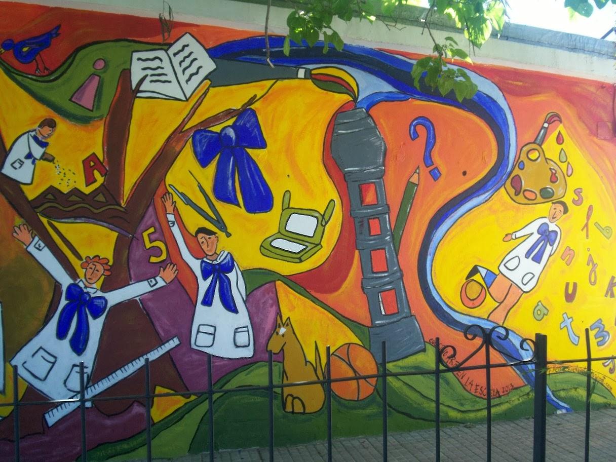 Arte en la escuela intervenciones artisticas talleres for Arte colectivo mural