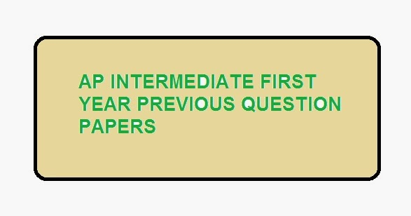 intermediate previous question papers of first year