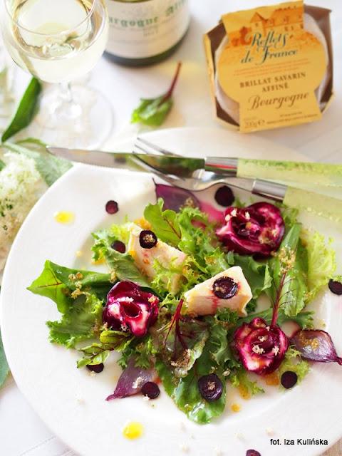 sałatka z serem pleśniowym i burakiem , brillat savarin affine , ser pleśniowy , testowanie