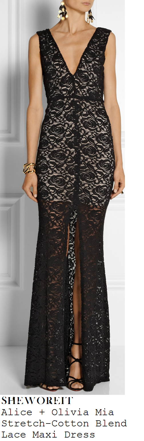 lucy-mecklenburgh-black-sheer-lace-sleeveless-plunge-front-v-neck-maxi-dress