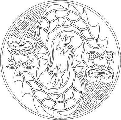 Mandalas para colorear mandalas de dragones - Mandala de dragon ...