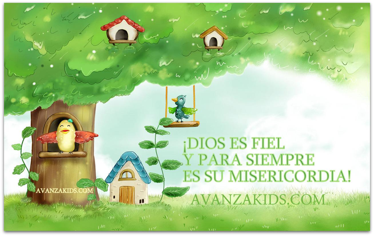 Frases bíblicas para niños DIOS ES FIEL