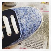 DIY chaussures pailletées